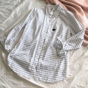 LL Bean tunic button down shirt
